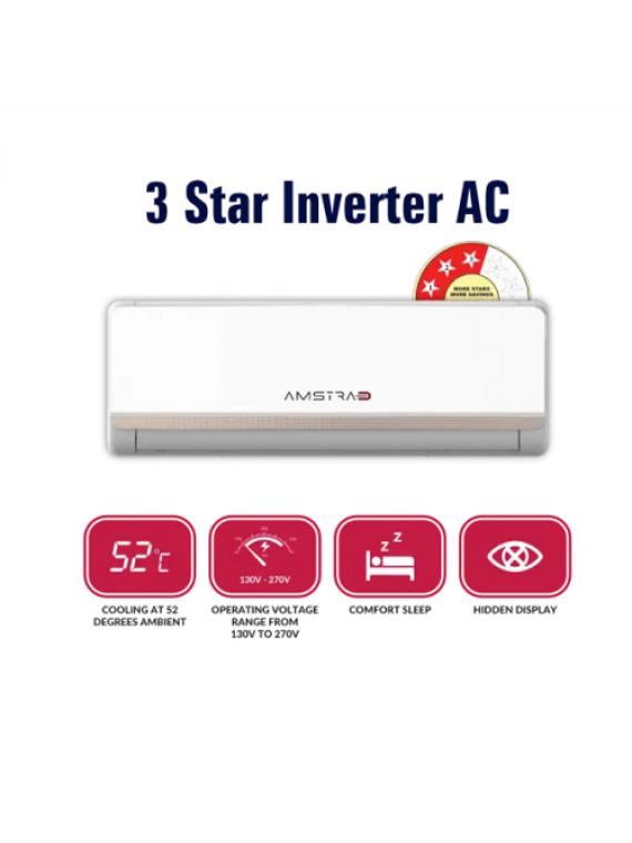 Amstrad 1 Ton 3 Star Inverter Split Ac AM13PI3 Gold