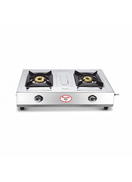 Preethi Stainless Steel Gas Stove - Glare 2 Burner