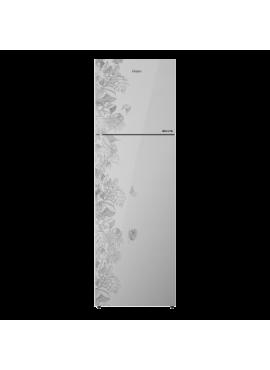 Haier 278 L 3 Star Inverter Frost-Free Double Door Refrigerator Floral Glass HRF-2984PFG-E