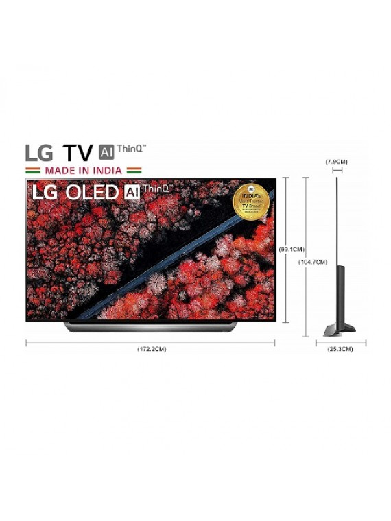 LG 195cms 77inch 4K Ultra HD Smart OLED TV With Built-in Alexa Dark Meteo OLED77C9PTA.ATRZ
