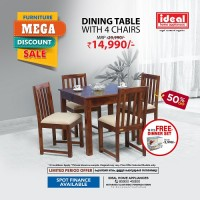 Engineered Wood Dining Table W..