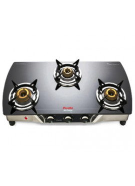 Preethi Glass Top - Blaze Auto Ignition 3 Burner Gas Stove