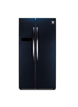 Panasonic 584 L Frost Free Side-by-Side Dark Grey Steel Refrigerator NR-BS60MHX1