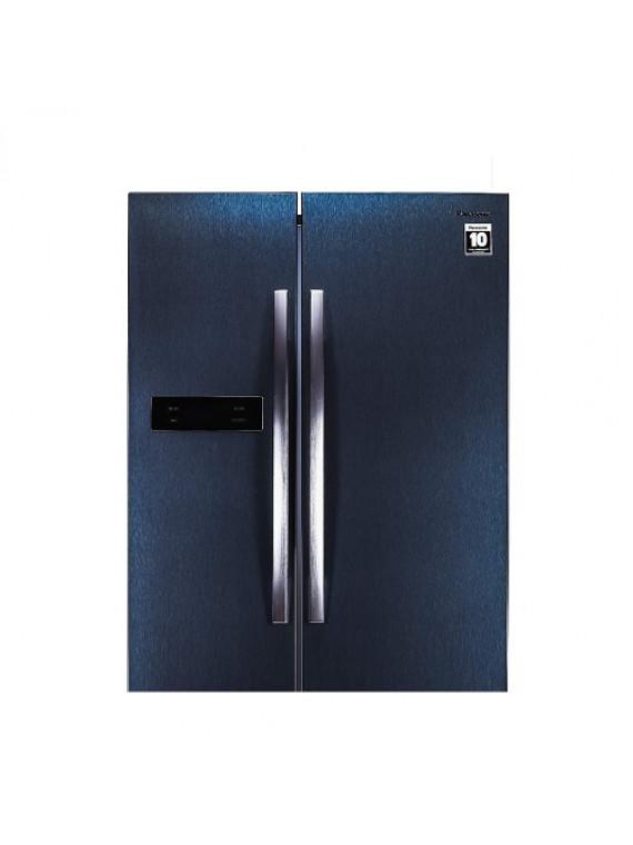 Panasonic 584 L Frost Free Side-by-Side Dark Grey Steel Refrigerator NR-BS60MHX1