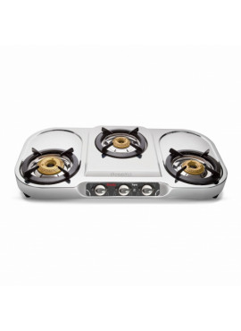 Preethi Stainless Steel Gas Stove - Topaz 3 Burner