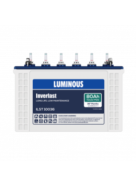 Luminous Inverlast ILST 10036 80 AH Short Tubular Inverter Battery