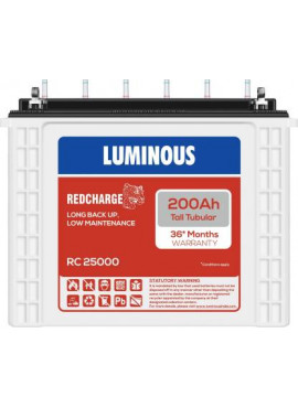Luminous RED CHARGE RC 25000 200 AH Tall Tubular Inverter Battery