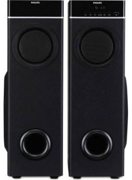 Philips Mutlimedia Tower Speakers 2.0 With Microphone - SPA 9060B