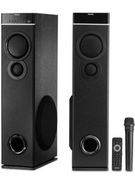 Philips Mutlimedia Tower Speakers 2.0 With Wireless Microphone - SPA 9080B