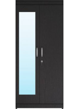 Engineered Wood 2 Door Wardrobe with Mirror
