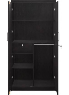 Engineered Wood 2 Door Wardrobe without Mirror