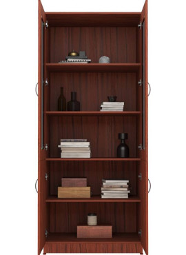 Engineered Wood Close Book Shelf Finish Color - Burma Teak