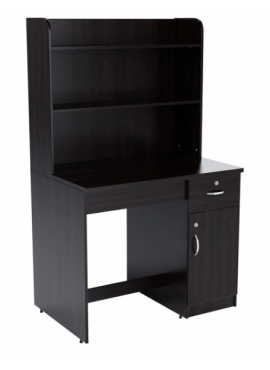 Study Table with Rack in Wenge Finish