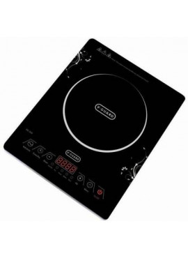 V-Guard VIC 300 2000W Induction Cooktop (BLACK, FEATHER TOUCH)