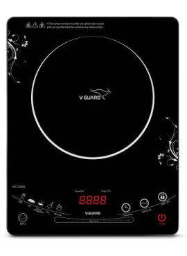 V-Guard VIC 2000 (2000 W) Induction Cooktop  (Black, White, Touch Panel)