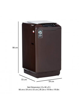 Godrej Eon Allure Fully Automatic Top Load Washing Machine - ALLURE 700 COCOA BROWN